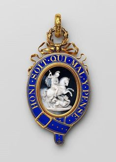 Badge of the Order of the Garter (Lesser George) London, Belonged to Henry, duke of Beaufort or to his son Henry Charles, duke of Beaufort. New Monarchy, British Medals, Moscow Kremlin, Order Of The Garter, Military Orders, 18th Century Costume, Billionaire Boys Club, Emblem, Imperial Russia