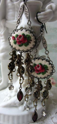 'petit point tassels' earrings