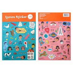 Oohlala Aurore paper deco sticker 2sheets No.2, (http://www.fallindesign.com/oohlala-aurore-paper-deco-sticker-2sheets-no-2/)