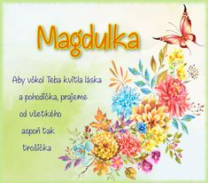 Magdulka - prianie k meninám