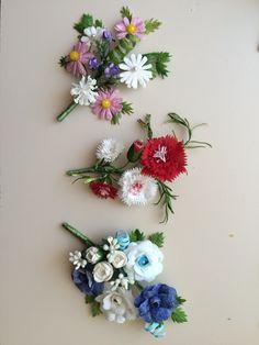 M Paper Clay, Diy Paper, Paper Crafts, Crepe Paper Flowers, Felt Flowers, Corsage Wedding, Handmade Flowers, Flower Crafts, Felt Crafts