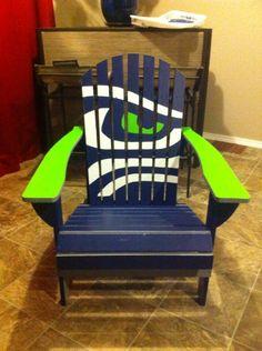 First chair I painted #gohawks #seahawks