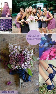 Navy Blue and Lavender Purple wedding inspiration board on Marry Me Metro wedding blog, http://marrymemetro.com