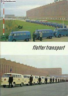 VW T1 Volkswagen Factory, Vw Kombi Van, Volkswagen Transporter, Vw Bus, Vw Camper, Campers, Combi Vw, Emergency Vehicles, German Army