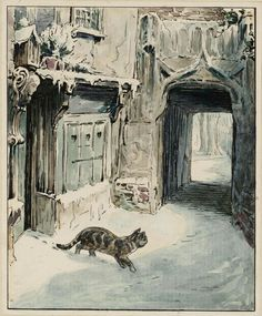 Helen Beatrix Potter. Simpkin Goes Out, c. 1902 | The Tate