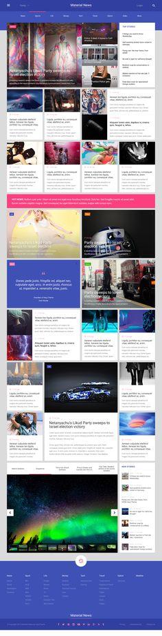 03 news 2 Dashboard Design, Ui Ux Design, Site Design, Layout Design, Google Material Design, Ui Elements, News Sites, User Interface Design, Web Design Inspiration