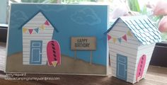 This is the first project I made on our stamping weekend this past weekend. I just have to share this with you. I was so pleased with how it turned out. I live right near the beach so had to make…