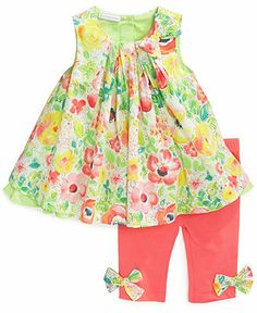 First Impressions Baby Girls' 2-Piece Pleated Tunic & Leggings Set - Kids Sets & Outfits - Macy's