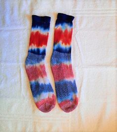 Tie Dye Socks// Adult crew// Patriotic// USA// Red White and Blue// Hippy// Fourth of July// America// Fun small gift for men or women by FarmFreshTieDyeStore on Etsy