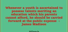 Best Parents Quotes Collection - Page 2 of 49 - 365 Quotes Good Parenting Quotes, 365 Quotes, James Madison, Joyce Meyer, Carry On, Meant To Be, Parents, Youth, Public