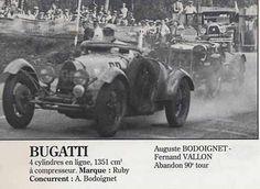 24H LE MANS 1934 - BUGATTI Type 37  #29 -  Auguste Bodoignet -  Fernand Vallon