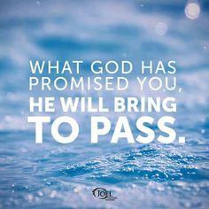 Believe in his promises