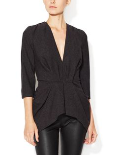 #Thakoon #Structured #VNeck #Top - was $1,290 now $559