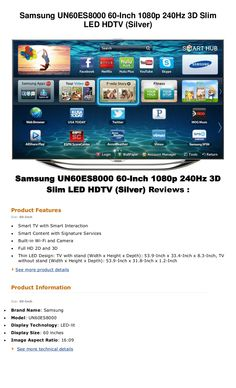 best-price-samsung-un60es8000 by newproduct via Slideshare