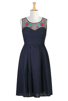This is similar to what the New Look 6143 dress w/mesh would look like, just without the embroidery.