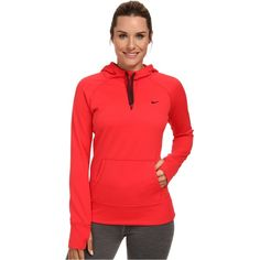 Nike All Time Hoody FA14 Women's Sweatshirt, Red (€31) ❤ liked on Polyvore featuring tops, hoodies, sweatshirts, red, red hooded sweatshirt, nike pullover, hooded sweat shirt, long hooded sweatshirt and hoodie sweatshirts