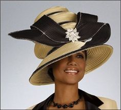 Image detail for -... High Fashion Designer Special Occasion Church Hat by Donna Vinci H1109