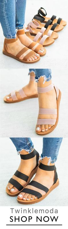 The Best Selling Sandals ! The Best Selling Sandals ! Variedshoes Women Casual Slip On Flats Sandals. All Size & Three Colors ! Sock Shoes, Cute Shoes, Me Too Shoes, Shoe Boots, Flat Sandals, Flats, Shoes Sandals, Women Sandals, Summer Shoes