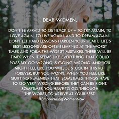 To all the women who don't think they are good enough, this one is for you…