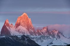The Fitz Roy Massif at sunrise Los Glaciares National Park - Patagonia - Argentina