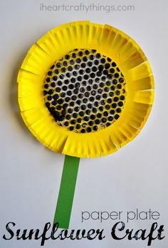 Paper Plate Sunflower Craft | I Heart Crafty Things
