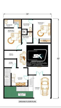 Introducing modern house plan of by Er. Sameer khan contact for Little House Plans, 2bhk House Plan, Model House Plan, Duplex House Plans, House Layout Plans, House Layouts, House Floor Plans, 30x50 House Plans, North Facing House