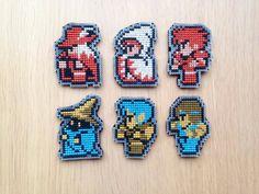 Final Fantasy Keychain, Cross Stitched Keychain, Black Mage Keychain, Pixel Art…
