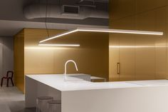 """Jean Verville incorporates """"golden ribbon"""" into Montreal apartment for music composer"""