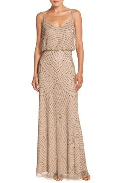 Adrianna Papell Embellished Blouson Gown (Regular & Petite) available at #Nordstrom