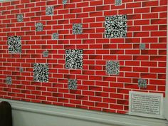 Teen Tech Week Board. Each code leads to a book trailer or site or a writing website or ...