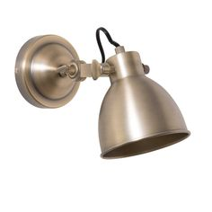 BRASS PORTO golden metal wall lamp H 12 cm £49.99
