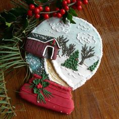 Beautiful snow globe cookie!!! Bebe'!!! Adore this holiday cookie!!!