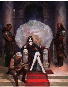 Rowan and Maeve- Throne of glass, Sarah J mass Dark Fantasy, Fantasy World, Fantasy Queen, Character Concept, Character Art, Concept Art, Fantasy Kunst, Fantasy Art, Fantasy Inspiration