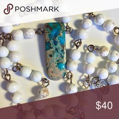 Spotted while shopping on Poshmark: Imperial jasper and howlite necklace! #poshmark #fashion #shopping #style #MoonbeamDaydream #Jewelry