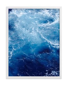 """""""Waving Blue"""" - Art Print by CaroleeXpressions in beautiful frame options and a variety of sizes."""