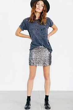 Love Sadie Sequin Mini Skirt