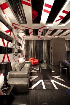 ♂ Masculine looking interior design with a very busy touch, yet stand out with its own unique style.