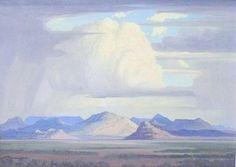 JH Pierneef, Oil on board, 400 x 500 mm, Landscape