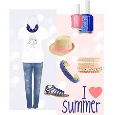 """My casual sweet summer"" by #ghirlandadipopcorn on Polyvore"