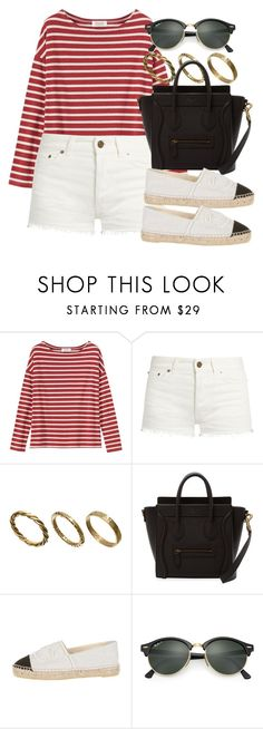 """Untitled #12217"" by vany-alvarado ❤ liked on Polyvore featuring Toast, Yves Saint Laurent, Made and Ray-Ban"