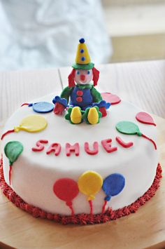 Happy 3rd Birthday Sam! #Circus themed birthday party. Cute clown cake. Family Portrait Photography, Family Portraits, 3rd Birthday, Birthday Party Themes, Clown Cake, Cute Clown, Happy, Desserts, 3 Years