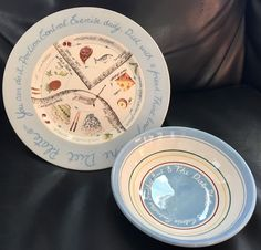 Royal Stafford England The Diet Plate Portion Control Plate And Matching Bowl & 2 X Portion Control Soup Bowl / Large Dinner Plate China Great Ideas ...