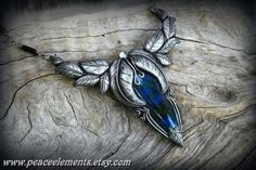 Labradorite gemstones clay pendants crystal by PeaceElements