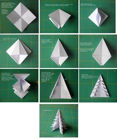 TODO CON PAPEL : Arbolito de navidad de origami