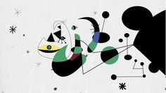 """A quirky series of moving paintings from Joan Miros """"Constelaciónes""""   Alberto Reyes: Design 2D Animation Sound Design"""