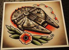 millenium falcon tattoo - Google Search