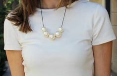 Elegant Pearl Necklace 60% off at Groopdealz