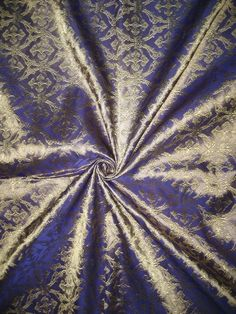 "Pure SILK BROCADE FABRIC Light Purple & Gold colour 44"" Vestment design $19"