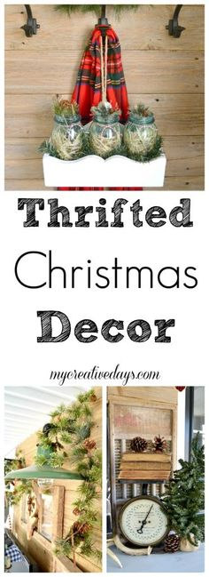 Thrifted Christmas Decor