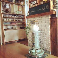 アラジンストーブ/足場板/黒板/ポーランド食器/DIY食器棚/DIY…などのインテリア実例 - 2014-12-11 05:24:42 | RoomClip(ルームクリップ)